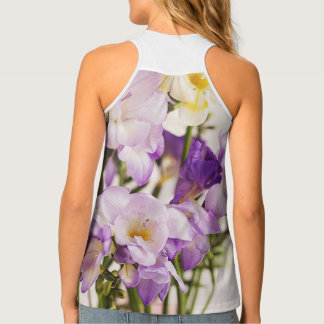 Purple petals vest fashion cool beach summer