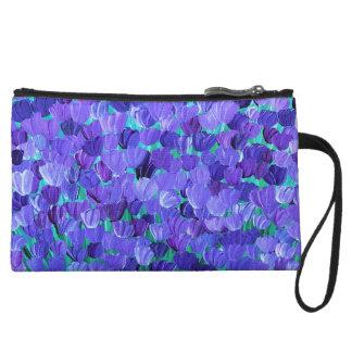 Purple Petals Wristlet