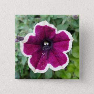 Purple Petunia 15 Cm Square Badge