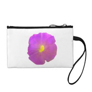 Purple Petunia Bagettes Bag Coin Wallet