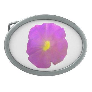 Purple Petunia Belt Buckle