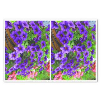 Purple Petunia Bottle Decoupage paper