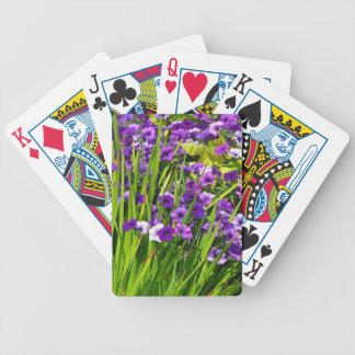 Purple petunia floral print deck of cards