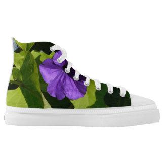 Purple Petunia floral shoes Printed Shoes