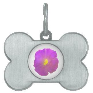 Purple Petunia Pet Tag