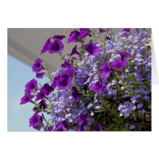 Purple Petunias 5x7 Card