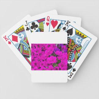 Purple Petunias Deck Of Cards