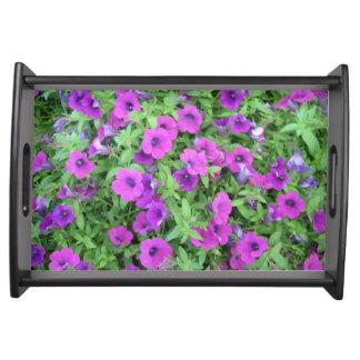 Purple Petunias Serving Tray