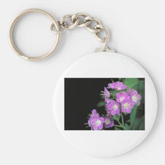 purple phacelia keychain