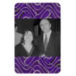 purple photo frame vinyl magnet