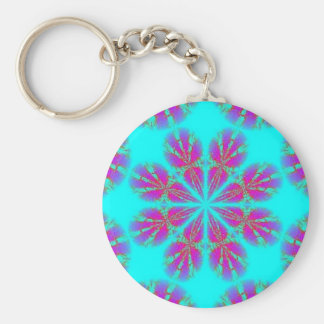 purple pic kvki basic round button key ring