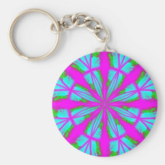 purple pic vkik basic round button key ring