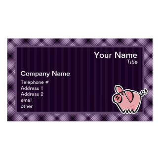 Purple Pig Business Card Templates