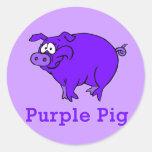Purple Pig on Apparel, Mugs, Baby Shirts Sticker