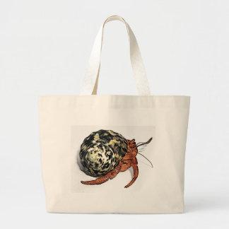 Purple Pincher Hermit Crab Design Large Tote Bag
