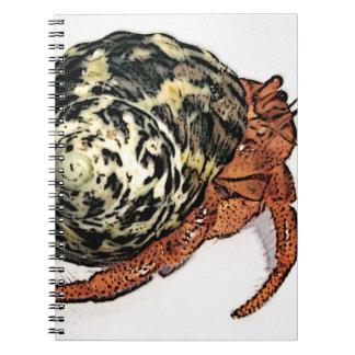 Purple Pincher Hermit Crab Design Notebook