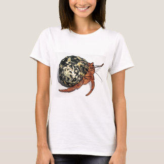 Purple Pincher Hermit Crab Design T-Shirt