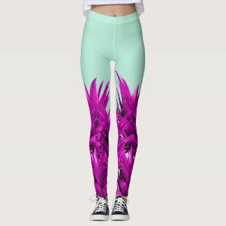 Purple Pineapples Leggings
