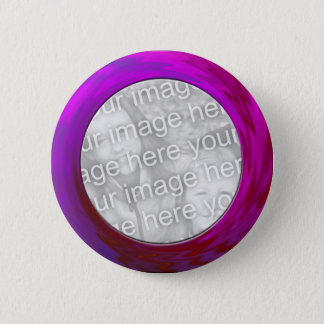 purple pink 6 cm round badge