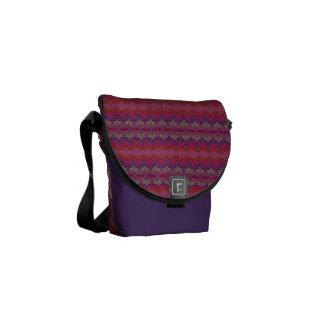 Purple Pink Abstract Designed Messenger Bag
