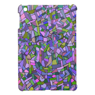 Purple Pink Abstract Mosaic Pattern Case For The iPad Mini