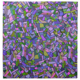 Purple Pink Abstract Mosaic Pattern Napkin