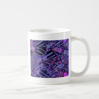 Purple pink Abstract  Zebra Pattern Coffee Mugs