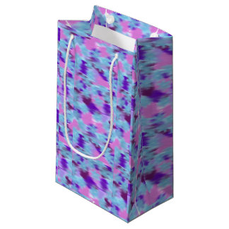 Purple, pink and teal gift bag