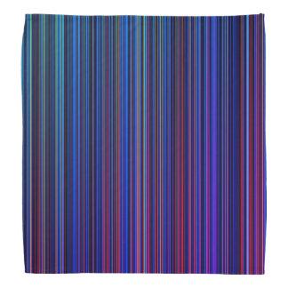 Purple pink aqua blue retro stripe bandana