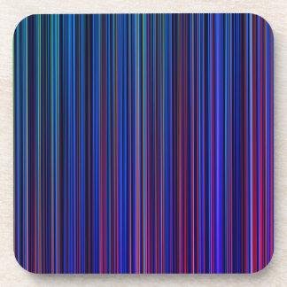 Purple pink aqua blue stripe  set of coasters