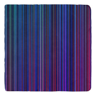 Purple pink aqua blue stripe stone trivet