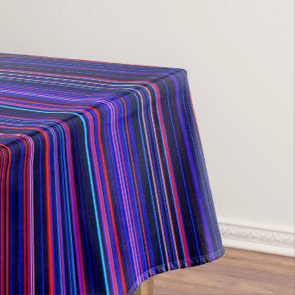 Purple pink aqua blue stripe table cloth tablecloth