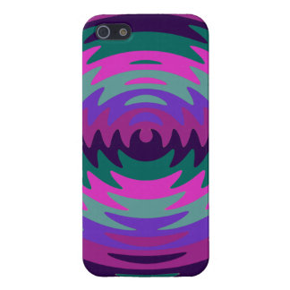 Purple Pink Aqua Saw Blade Ripples Waves Covers For iPhone 5