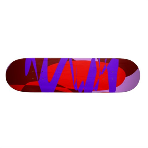 Purple Pink Background Free Lines and Forms Custom Skate Board
