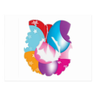 PURPLE Pink Baloons n Stars Festival Post Card