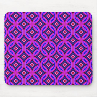 Purple Pink Blue Celtic Knots Diamonds and Stars Mouse Pad