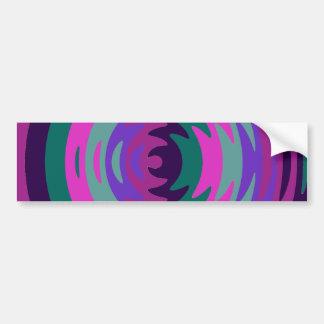 Purple Pink Blue Saw Blade Ripples Waves Car Bumper Sticker