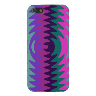 Purple Pink Blue Saw Blade Ripples Waves iPhone 5 Case
