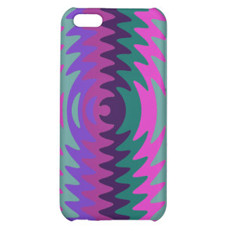 Purple Pink Blue Saw Blade Ripples Waves iPhone 5C Cases