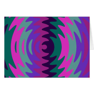 Purple Pink Blue Saw Blade Ripples Waves Note Card