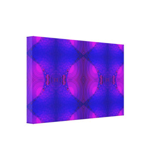 purple pink  circles shapes stretched canvas prints