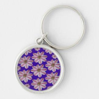 Purple & Pink Clematis Keychain