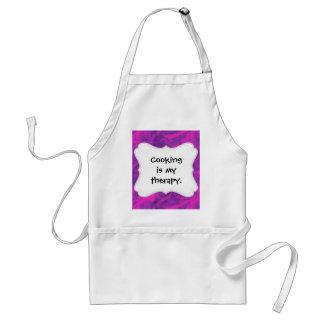 Purple Pink Floral Swirl Flourish Girly Pattern Adult Apron