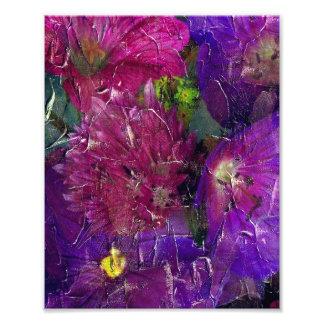 Purple Pink Flower Garden Art Photo