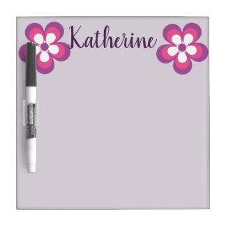 purple pink flowers dry erase dry erase board