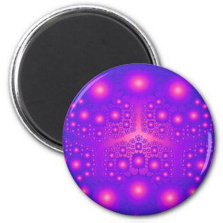 Purple & Pink Fractal Explosions: Magnet