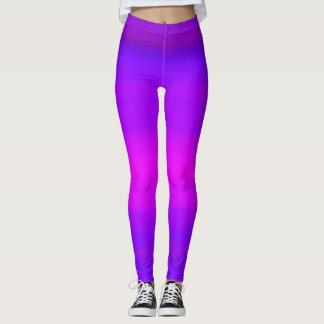 Purple Pink Fuchsia Abstract Stripes Leggings