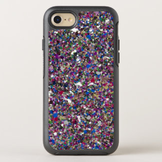 Purple Pink Glitter Cool Colorful Chic Sparkles OtterBox Symmetry iPhone 8/7 Case