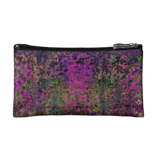 Purple Pink & Green Abstract Cosmetic Purse