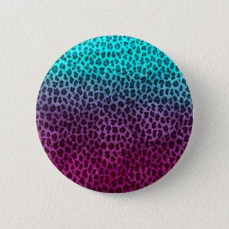 Purple Pink Green Cheetah Print 6 Cm Round Badge
